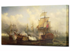 The Redoutable at Trafalgar Wall Art Canvas Picture Ready To Hang