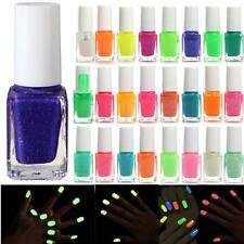 24 Colors Nail Art Fluorescent Neon Polish Gel Fashion Glow In Dark Varnish Hot