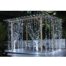 Fuloon 3Mx3M 300 LED Outdoor Party Christmas String Fairy Wedding Curtain Lights
