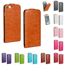 "For Apple iPhone 6 4.7"" Plus 5.5"" Vertical Flip Fitted Case Thin PU Leather Skin"