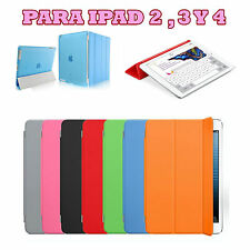 Funda carcasa Smart Cover Case para Apple iPad 2 3 4 + Proteccion Trasera Matte
