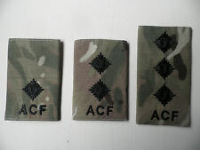 ACF, MTP rank epaulette sliders [pair] Officer ranks, new & unissued.