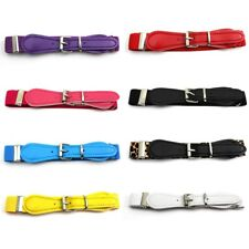 Children's Kids Candy Color Decoration Elastic Band Belt With Buckles Waistband