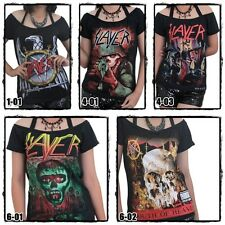 Slayer Metal Punk Rock DIY Ladies Short Sleeve Tee Tank Top TShirt