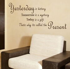 Yesterday Tommorw Today Inspirational Wall Quote Motivational Quote DAQ12