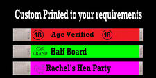 100 CUSTOM BLACK PRINTED TYVEK WRISTBANDS EVENT CLUB BAR PARTY WEDDING BANDS