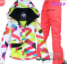 HOT 2014 NEW Girls Women's ski snowboard snow jacket Coat and pants