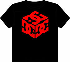 DC shoes t shirt black tshirt / red dc picture S M L size adult