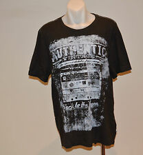 Buffalo David Bitton Mens Printed T Shirt - DARK GREY - SIZE - XL  - NEW