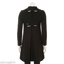 Moschino Cheap & Chic Tweed Asymmetric Black Bow Back Coat BNWT 6 12 38 44 £989