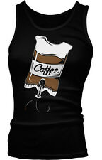 Coffee IV Caffeine Addiction Funny Humor Joke Morning Person Boy Beater Tank Top