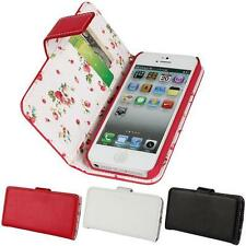 Fashion PU Leather Floral Flower Flip Wallet stand Case Cover For iPhone 5/5S