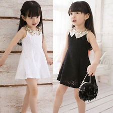 1PC Girls Kids Princess Elegant Party Lace Bow Dress Clothes Child Cheap
