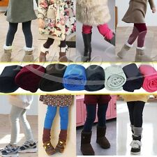 Toddler Girl Tight Skinny Leggings Pants Stretch Kid Thick Trousers 2-7 Clothing