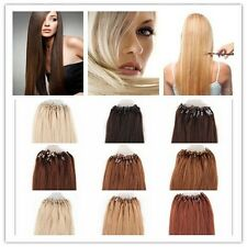 "18""20""22""24"" Micro Ring Beads Tipped Real Remy Human Hair Extensions 0.5g/s 50s"