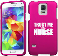 For Samsung S3 S4 S5 Active Rubber Hard Case Cover Trust Me I'm A Nurse