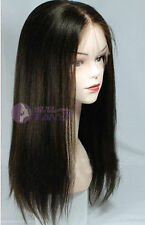 """Women 8""""-20"""" Brazilian 100% Human Remy Hair Lace Front Wigs Silky Straight Wig"""