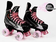 Bauer Quad Roller Skate - Vapor X Elite Playmaker Conversion - Pink