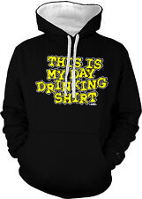 This Is My Day Drinking Shirt Sunday Shenanigans Funday 2-tone Hoodie Pullover