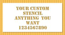 Custom Stencil Anything You Need Letters Numbers Logo Personalized Laser Cut