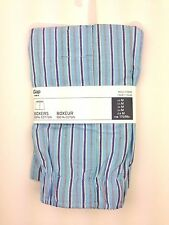 NEW GAP Mens M Boxers Blue Striped 100% Cotton NWT
