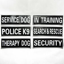 SERVICE DOG Velcro Patches Reflective Dog Harness THERAPY POLICE TRAINING SEARCH