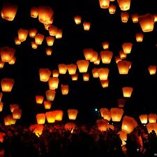 5/10/20Pcs Chinese Flying Sky Paper Kongming Floating Wishing Lantern Wedding