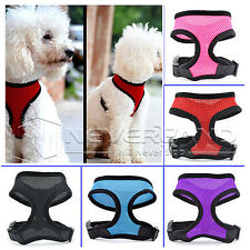 Soft Pet Dog Puppy Cat Vest Mesh Adjustable Harness Lead Leash Clothes w/ Clip