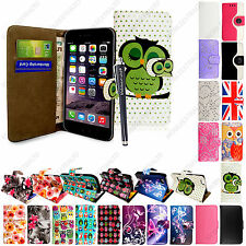 For Various Mobile Phones Printed PU Leather Magnetic Flip Case Cover + Stylus