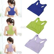 Womens Cotton Wrapped Chest Sports Bra Tube Top Casual Semi Vest Cropped Tops
