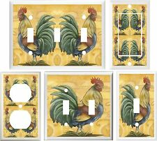 TUSCAN COUNTRY ROOSTER KITCHEN DECOR LIGHT SWITCH OR OUTLET COVER V756