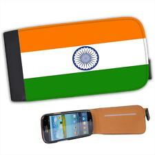 India Flag Leather Flip Case for Samsung S3