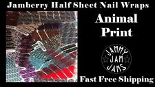 Jamberry Half Sheet Nail Wraps FAST FREE SHIPPING Animal Print Designs