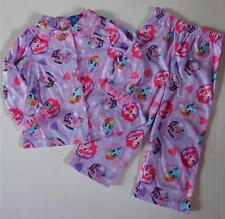 MY LITTLE PONY Toddler Girls 24 Mo 2T 3T 4T 5T Flannel Pjs Set PAJAMAS Shirt MLP