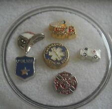 Floating Charms for Glass Lockets Occupations, teacher, nurse, hairdresser,fire