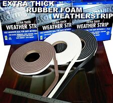 STORMGUARD DRAUGHT EXCLUDER PREMIUM EXTRA THICK RUBBER FOAM HINGED DOORS WINDOWS