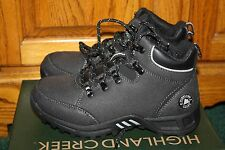 NIB Boys Highland Creek Outlander black winter hiking casual boots
