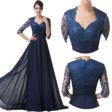 STOCK Vintage 70s 50s Half Sleeve Masquerade Evening Prom Party Long Maxi Dress