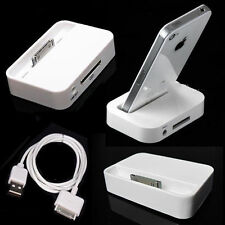 New Charger Charging Sync Stand Dock Cradle/Cable for Apple iPhone 4 4s 3G