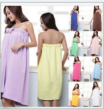 Women Absorbent Microfiber Bow Shower Body SPA Bath Wrap Towel Bath Robe 59*31in