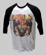 DAVID LEE ROTH hard rock metal BASEBALL T SHIRT unisex BLACK SLEEVE S-XXL