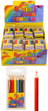 Mini Colouring Pencils 6 Pack Childrens Christmas Party Bag Toy Lucky Dip Prizes