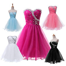 HOT short MINI Evening Prom Bridesmaid Dress Masquerade Dance Costume Ball Gowns