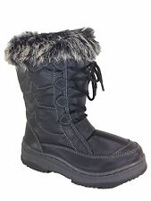 Women Snow Winter Boots Fur lined Rubber Sole Zipper Weather Proof Sunrise