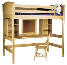 Wood Mission Study Twin Loft Bed In Natural Finish [ID 316574]