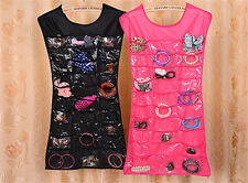 Hot Jewelry Dress Hanging Brooch Bag Closet Display Holder Storage Pockets Go