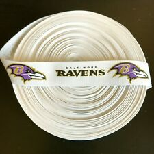 "7/8"" Baltimore Ravens Grosgrain Ribbon by the Yard (USA SELLER!)"