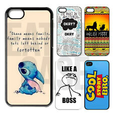 OHANA STITCH CARTOON CUTE DISNEY CHARACTER MOBILE CASE COVER FOR VARIOUS MODELS