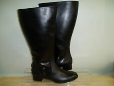 Fitzwell Temecula Extra Wide Calf Women's Side-Zip Leather Boots Size 13 Black