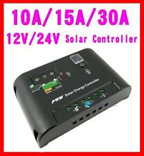 10A/20A/30A Solar Regulator Panel Charge Controller 12V/24V Auto Autoswitch TRC